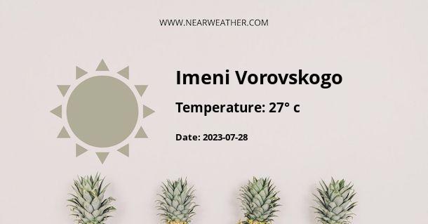 Weather in Imeni Vorovskogo