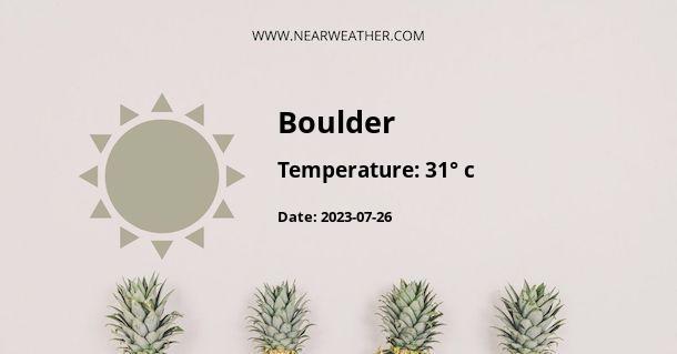 Weather in Boulder