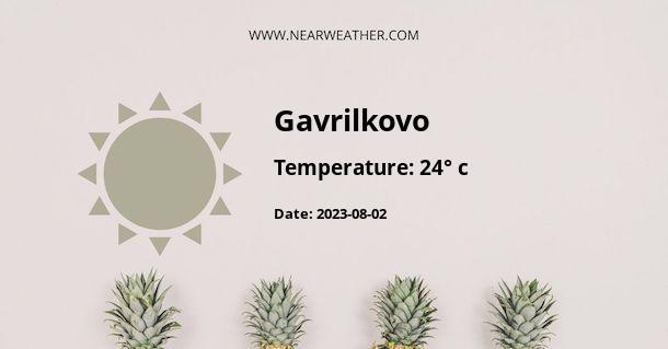 Weather in Gavrilkovo