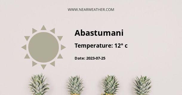 Weather in Abastumani