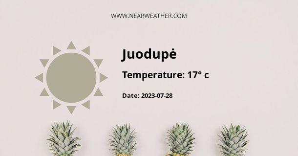 Weather in Juodupė