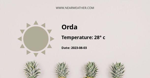 Weather in Orda