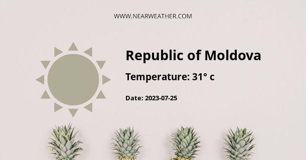 Weather in Republic of Moldova