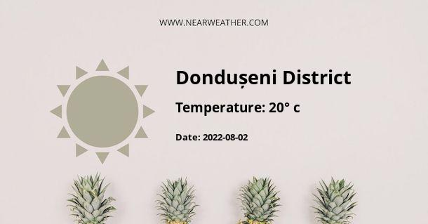 Weather in Dondușeni District