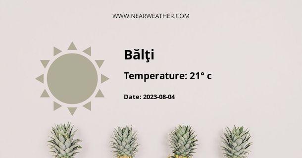 Weather in Bălţi