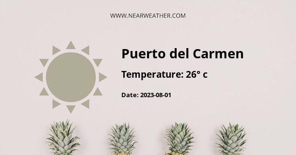 Weather in Puerto del Carmen