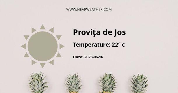 Weather in Proviţa de Jos