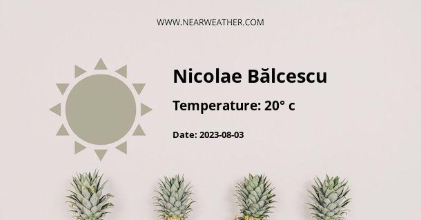 Weather in Nicolae Bălcescu