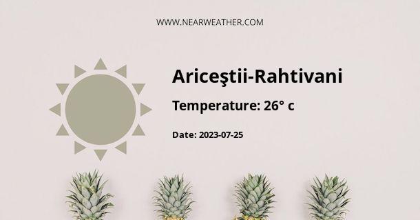 Weather in Ariceştii-Rahtivani