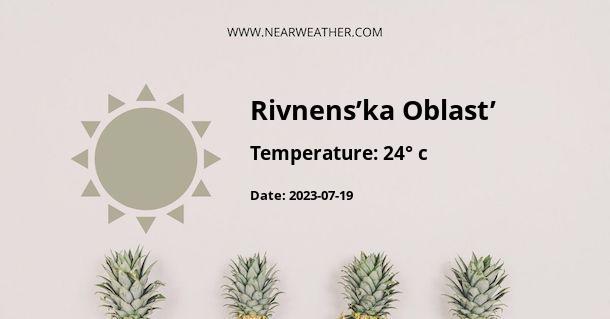 Weather in Rivnens'ka Oblast'