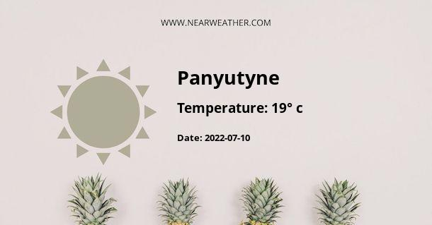 Weather in Panyutyne