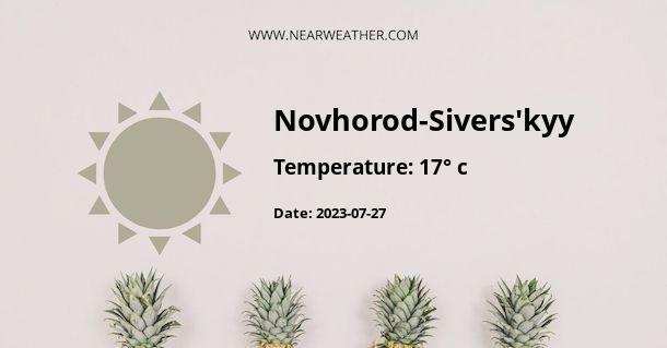 Weather in Novhorod-Sivers'kyy