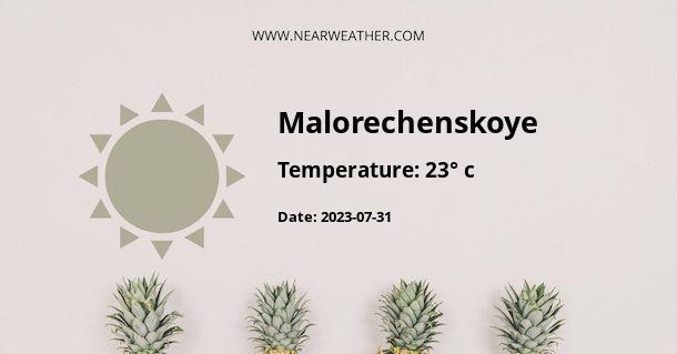Weather in Malorechenskoye