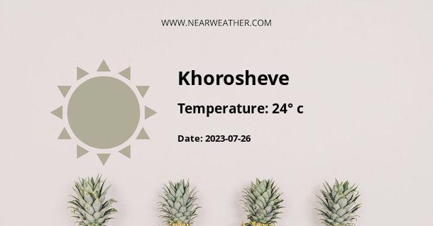 Weather in Khorosheve