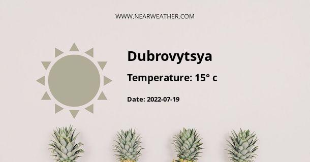 Weather in Dubrovytsya