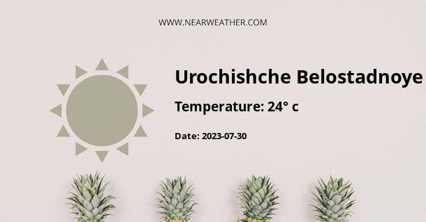Weather in Urochishche Belostadnoye