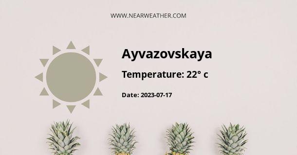 Weather in Ayvazovskaya