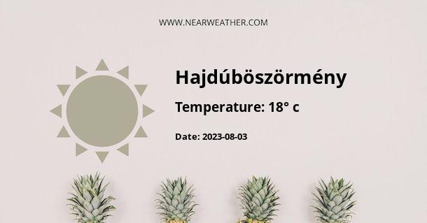 Weather in Hajdúböszörmény