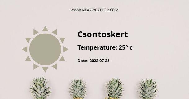 Weather in Csontoskert