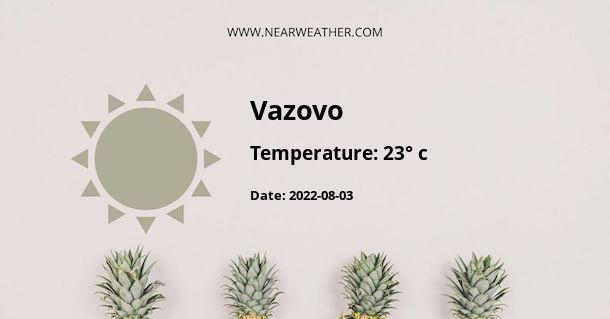Weather in Vazovo