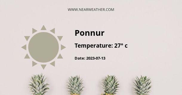 Weather in Ponnur