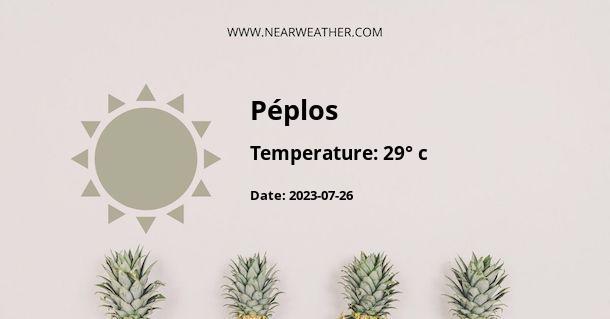 Weather in Péplos