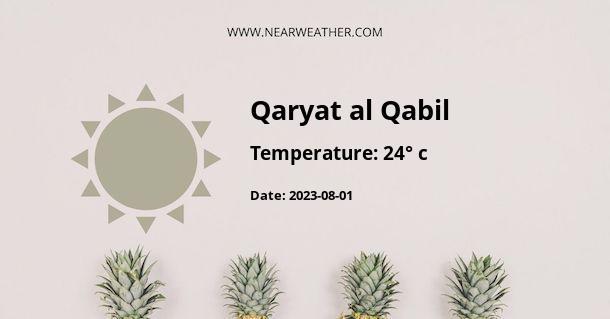 Weather in Qaryat al Qabil