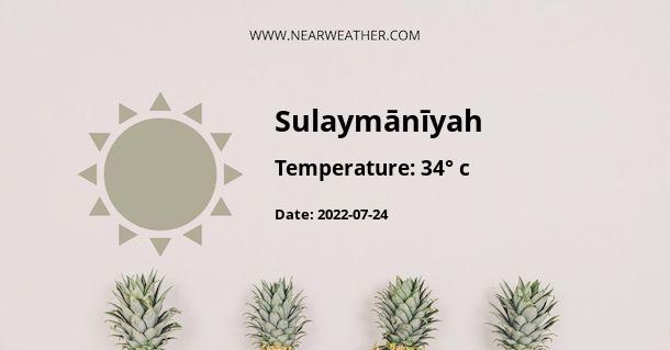Weather in Sulaymānīyah